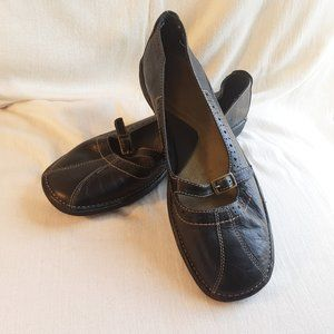Aerosole What's What Black Leather Mary Janes, 7.5